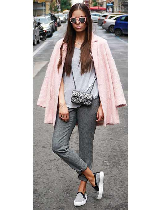 os Achados   Moda   Rosa blush + cinza