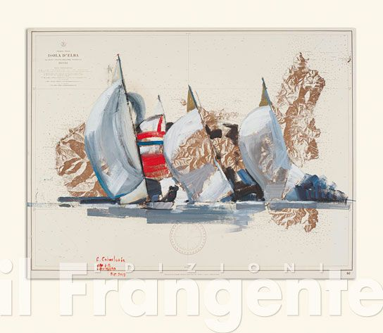 ART 13L<br/>Corrado Cohen - 5,5m in poppa su carta storica Elba