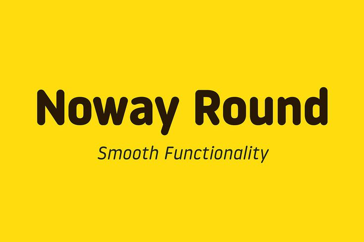 Noway Round – Free Font