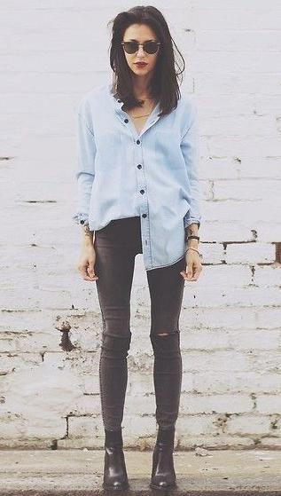 fall style. #denim