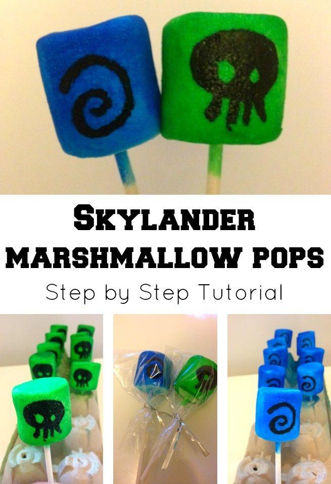 Skylander Marshmallow Pops Tutorial @mumturnedmom