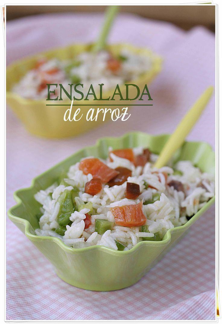 Ensalada de arroz {by Paula, Con las Zarpas en la Masa}