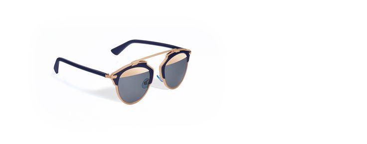 """""""dior so real"""" sunglasses, bleu marine and pink gold - Dior"""