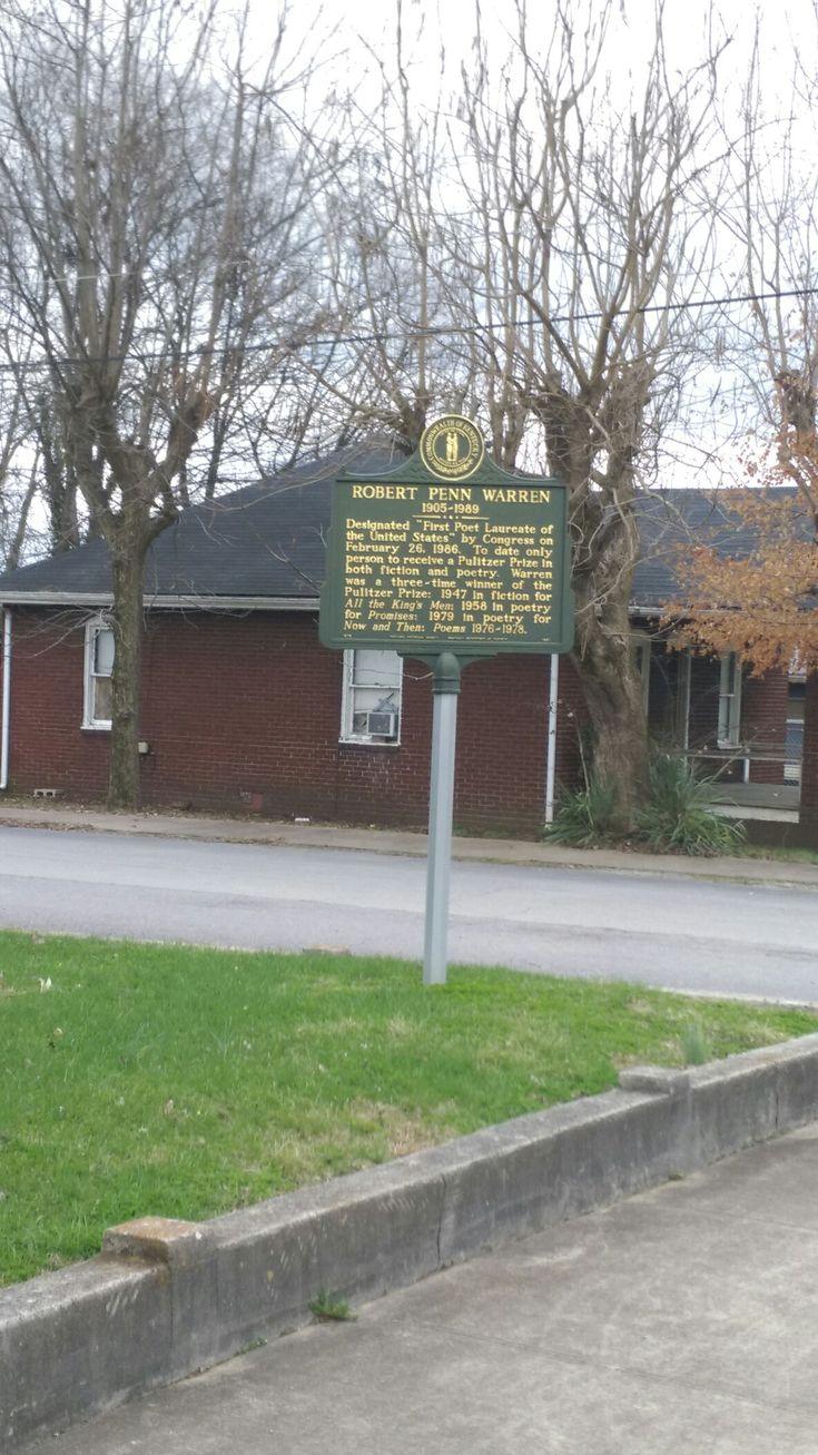 Robert penn warren birthplace historical marker guthrie