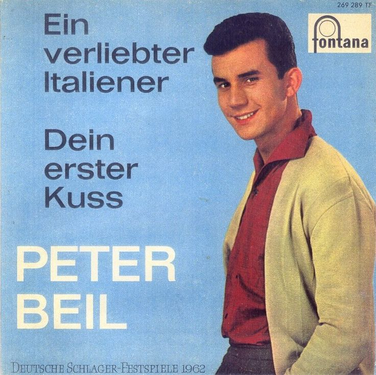 """Peter Beil - """"Ein verliebter Italiener"""", german preselection for the Eurovision Song Contest 1962, place 11"""