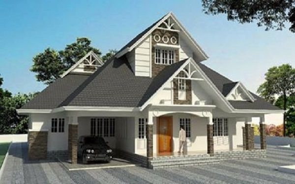 Single Floor Colonial Style House In Kerala In 2020 Colonial Style Homes Single Floor House Design Colonial Style