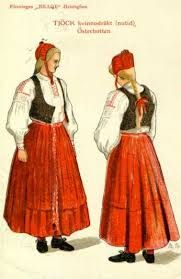 This is our folk costume. Right out of the trunk! Osterbotten