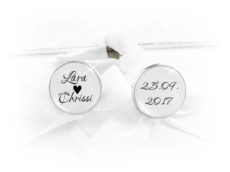 Bräutigam - Manschettenknöpfe,personalisiert - ein Designerstück von bestchoice bei DaWanda