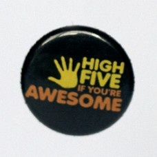 Button: High Five If You're Awesome