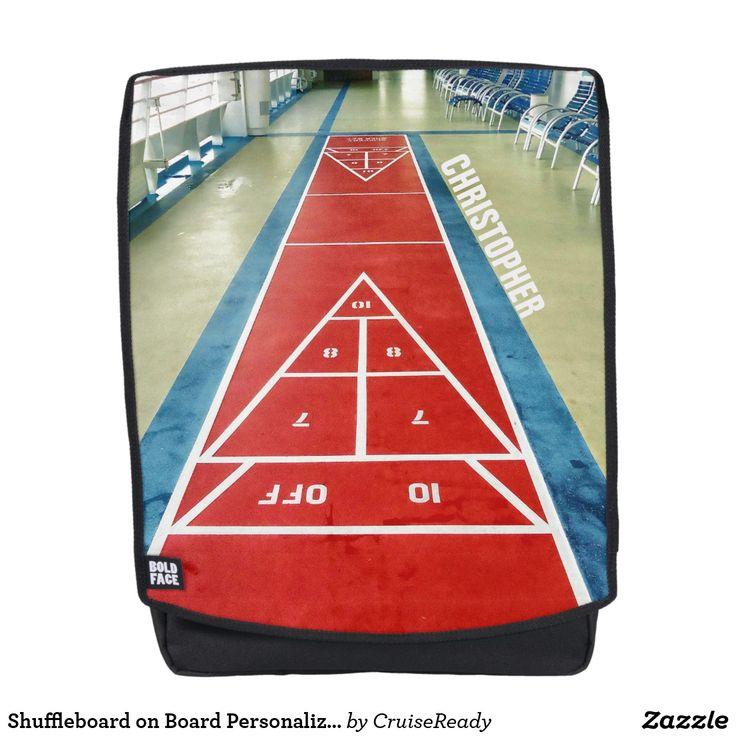 Shuffleboard on Board Personalized Backpack