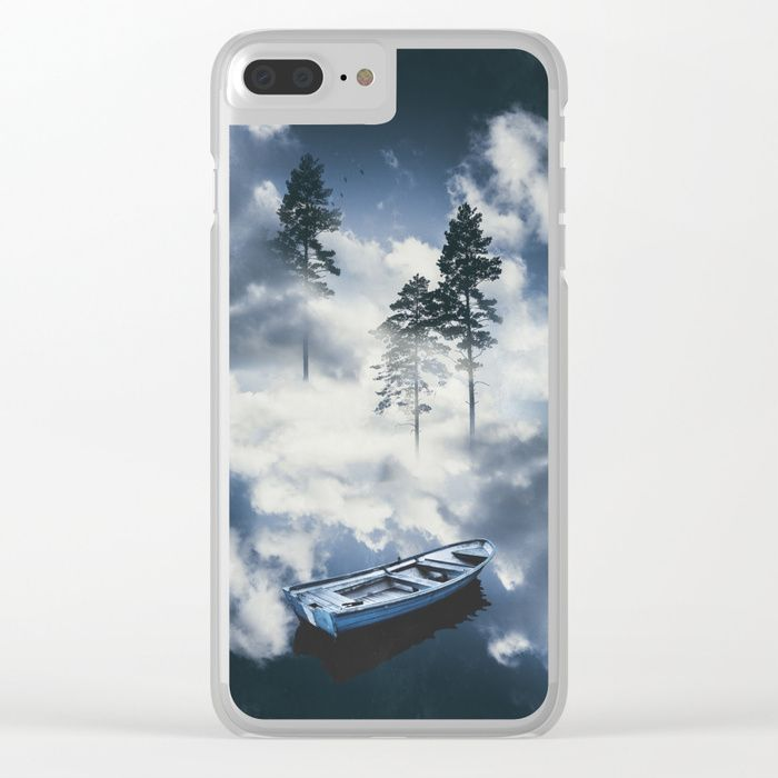 Forest sailing Clear iPhone Case by HappyMelvin. #art #nature #photography #surreal #phonecase #iphone