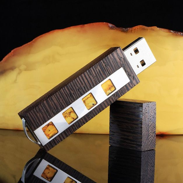 USB-Sticks - USB stick gravur | Bernstein | 64GB USB 3.0 - ein Designerstück von ZaNa-Design bei DaWanda