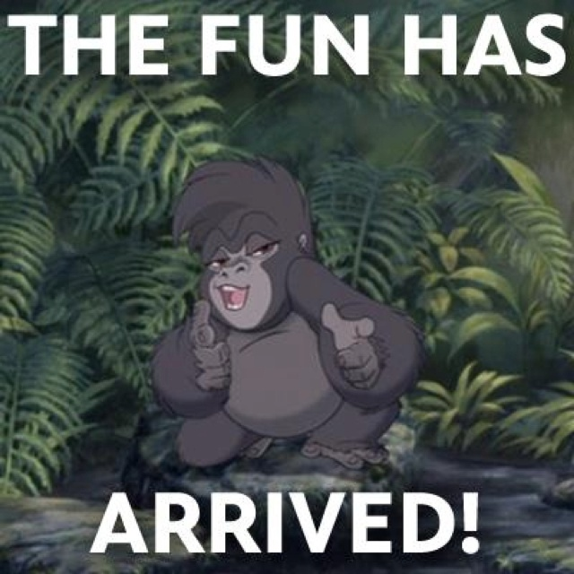 Thank ya very much! - Turk I still try to quote this line whenever possible. Tarzan rocks.