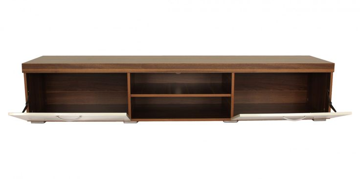 Riana KL-MIL-003 Milan TV Unit – White - The Milan TV Unit is the perfect furniture piece for large screen televisions to be proudly and safely displayed. The 2.0m Milan unit will safely hold screens up to 88 inches in size and the 1.4m Milan unit can hold screens up to 65 inches. The two drop down front doors are made with a high gloss finish and have extra strong safety hinges that ensure the panels lower down slowly and safely.