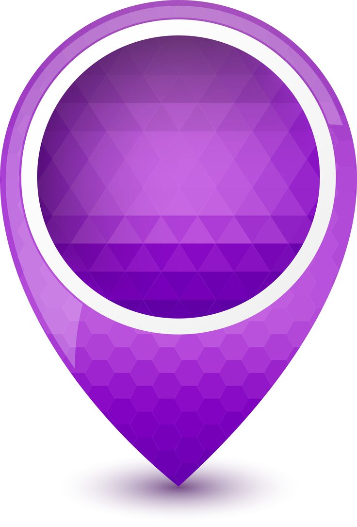 Icons Vector : Free Purple Round 3D Map Pointer Icon .ai ...