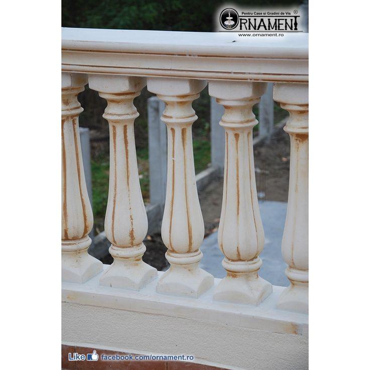 Balustru de beton S1 culoare Galben Antic