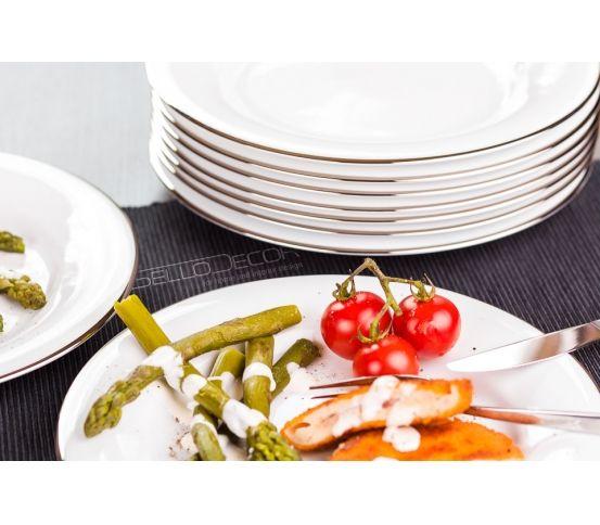 Villa Italia Hatty Platin - Zestaw obiadowy dla 12 osób. pomysł na prezent, ślub, wesele, prezenty ślubne, ślubny prezent, prezent na ślub, prezent z okazji ślubu, prezenty, wyjątkowy prezent, porcelana