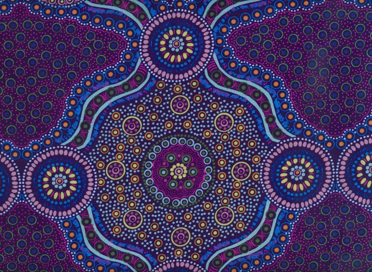 Australian fabric - wild bush flowers purple.  Wow.  exquisite.