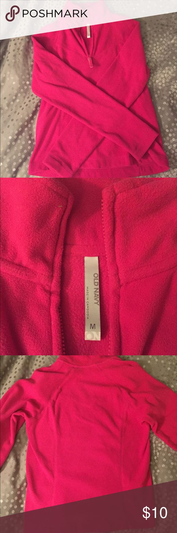 Pink Old navy fleece Sz M Pink old navy fleece jacket- size medium. Only worn a couple times. Very soft and warm! Old Navy Tops Sweatshirts & Hoodies