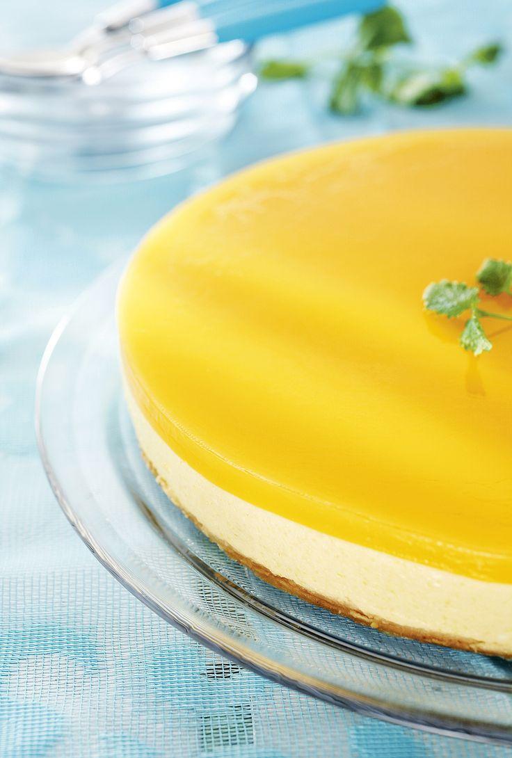 Helppo ja herkullinen mangotorttu on mangoinen juustokakku, joka maistuu esimerkiksi keväisen aterian jälkiruokana.