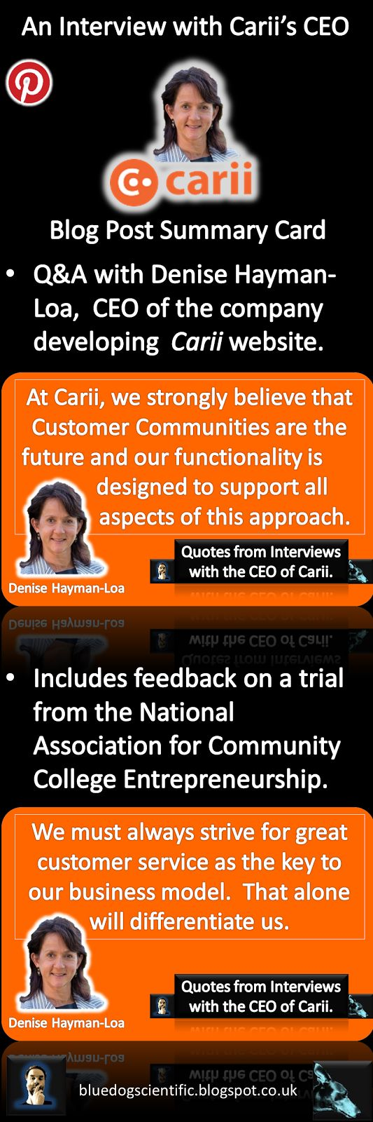 The Blue Dog Scientific Blog: Q&A with the CEO of Carii. #networking #interview #carii