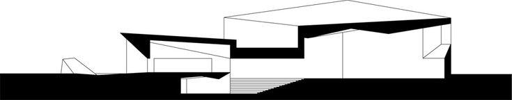 JKMM architects: alvar aalto's seinajoki city library expansion, section  http://www.designboom.com/architecture/jkmm-architects-alvar-aaltos-seinajoki-city-library-expansion/