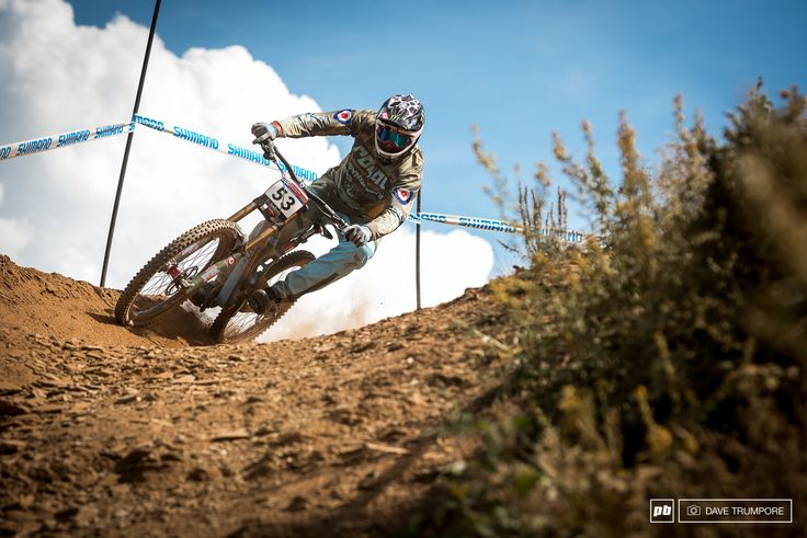Steve Peat points his Santa Cruz Spitfire down the fast and loose Andorra track.