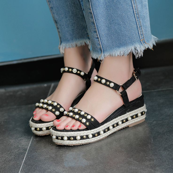 """$36.50, Women's Espadrilles Wedges Ankle Strap Sandals, Use code """"LADYSTO"""" to get 15% OFF & one FREE chic socks."""