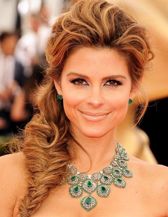 Maria Menounos: boa ideia de penteado para festa :) #cabelo #tranca #beleza