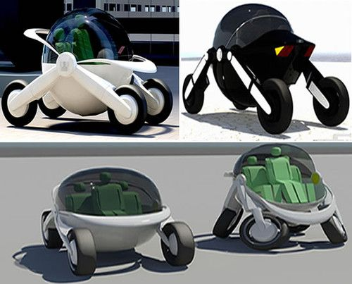 Future Transportation - Spheric futuristic car smoothly rolls on ...
