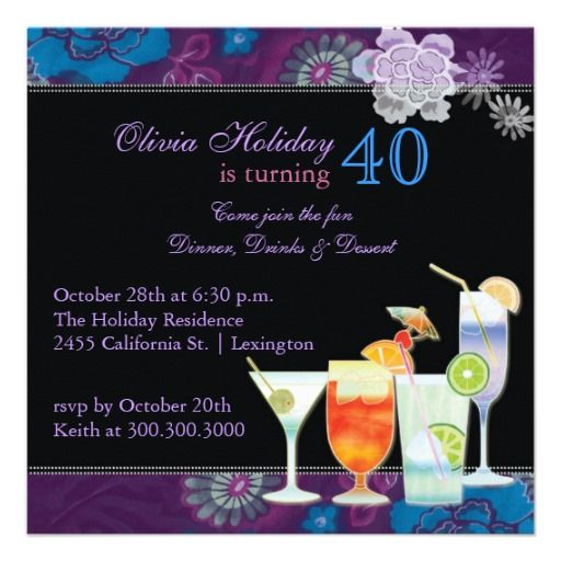 21 best 40th birthday invitations wording images on pinterest, Birthday invitations