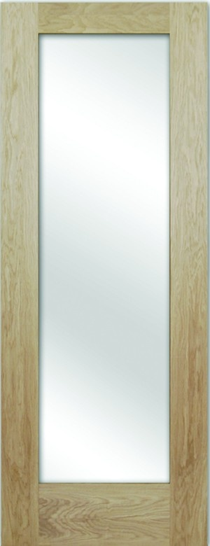 White Oak Shaker Glazed Interior Door: doorandfloorstore.co.uk/white-oak-shaker-1-glazed-40mm-unfinished-interior-door.html