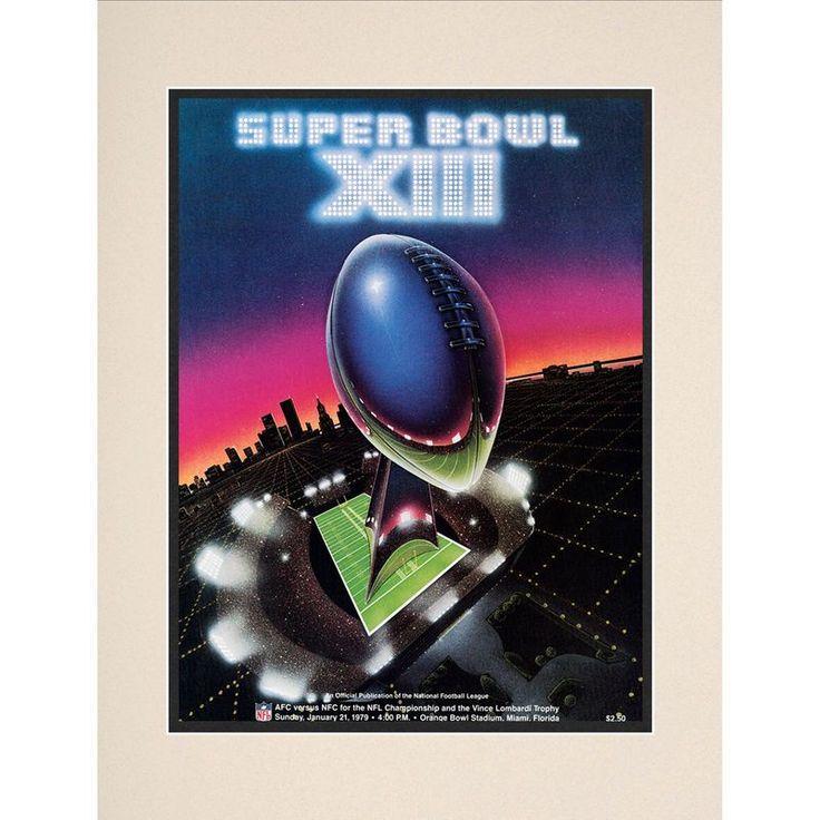 "Fanatics Authentic 1979 Steelers vs. Cowboys 10.5"" x 14"" Matted Super Bowl XIII Program"