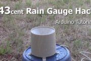 Use a rain gauge connected to an arduino to measure rainfall.