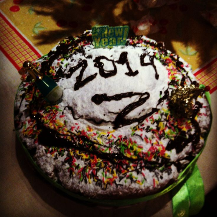 Handmade new years eve cake!
