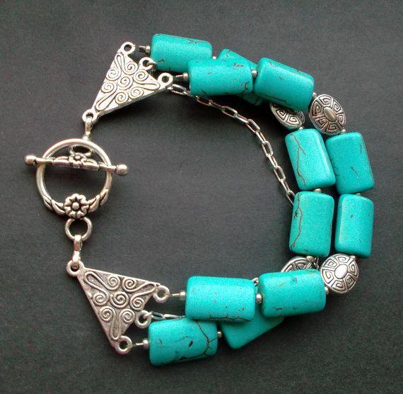 Bracelets turquoises by Reriro on Etsy
