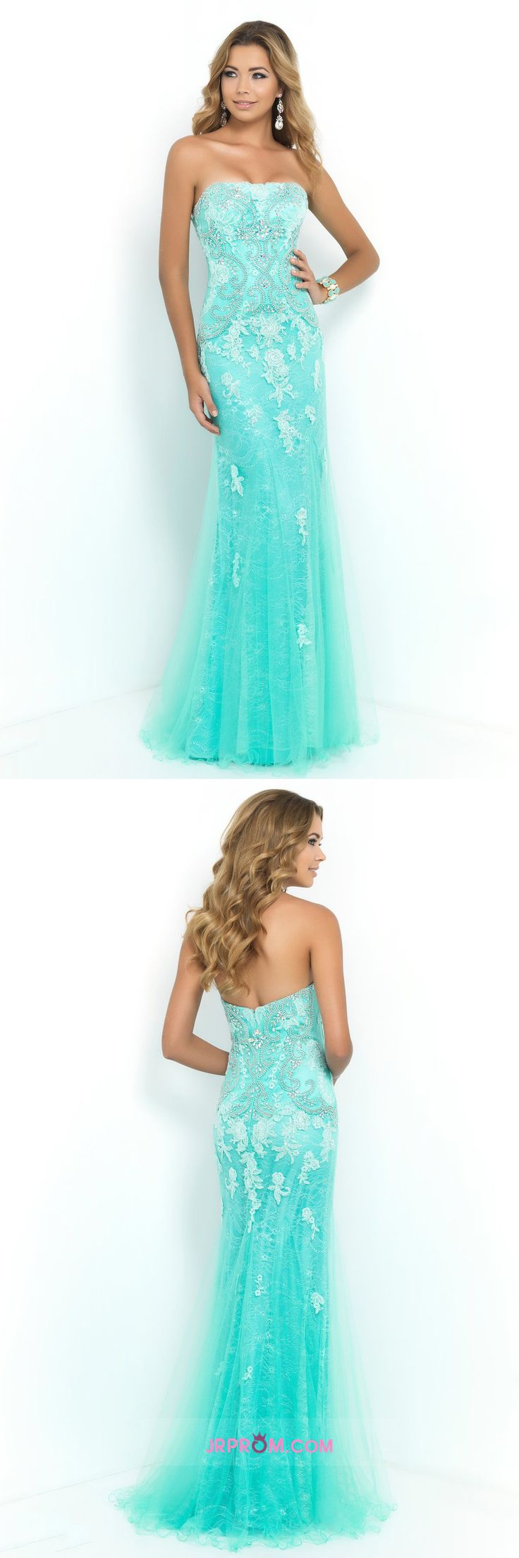 2016 Prom Dresses Strapless Column With Beading And Applique Item Code:#JRPSLE6R7R