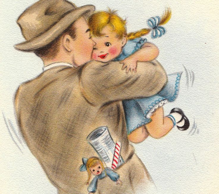Free Vintage Father's Day Images & Greeting Cards | Free Vintage ...
