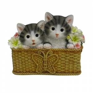 Valentina Home Collection Dekoratif Sevimli Kediler Saksı GittiGidiyor'da 247848035