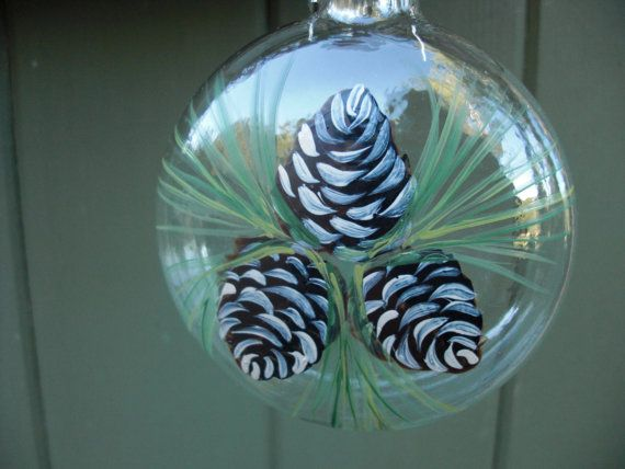 Hand painted glass christmas ornament with by ArtisanColorado, $22.50