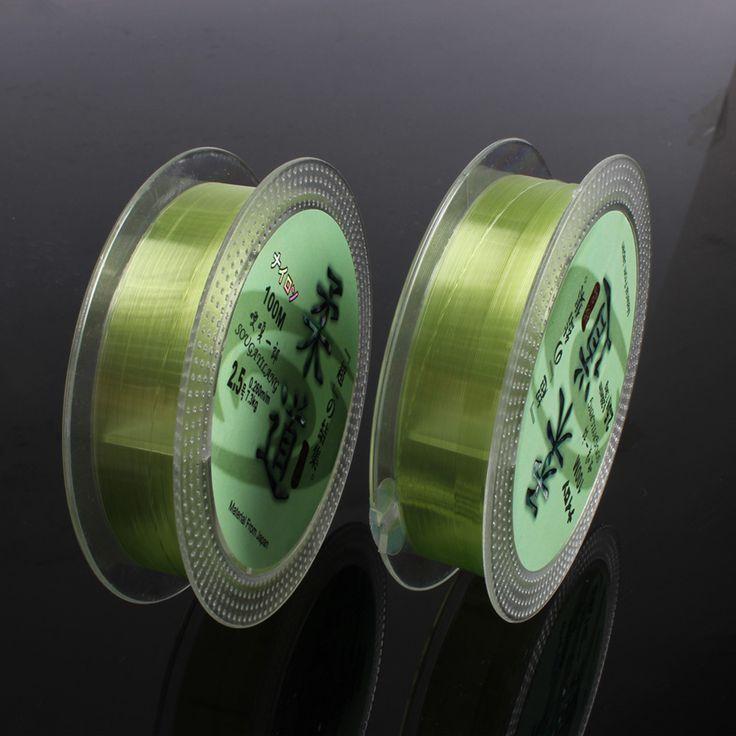 Hot Sale Transparent Fluorocarbon  Fishing Line Green 100m 0.6