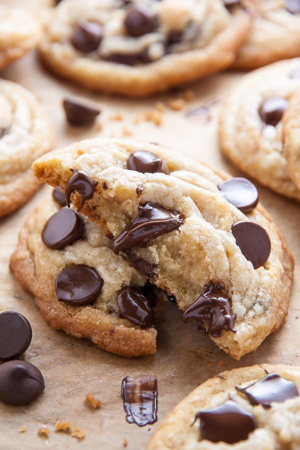 Thick And Chewy Coconut Oil Chocolate Chip Cookies Baker By Nature Recipe In 2020 Coconut Oil Chocolate Chip Cookies Chocolate Chip Cookies Coconut Oil Chocolate