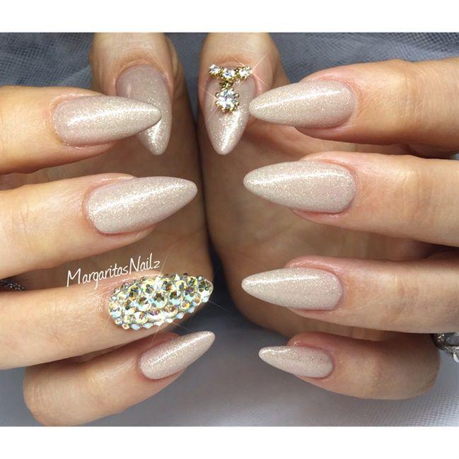 Best 25 almond nail art ideas on pinterest fall almond nails almond nails and fall nails - Nail art nude ...