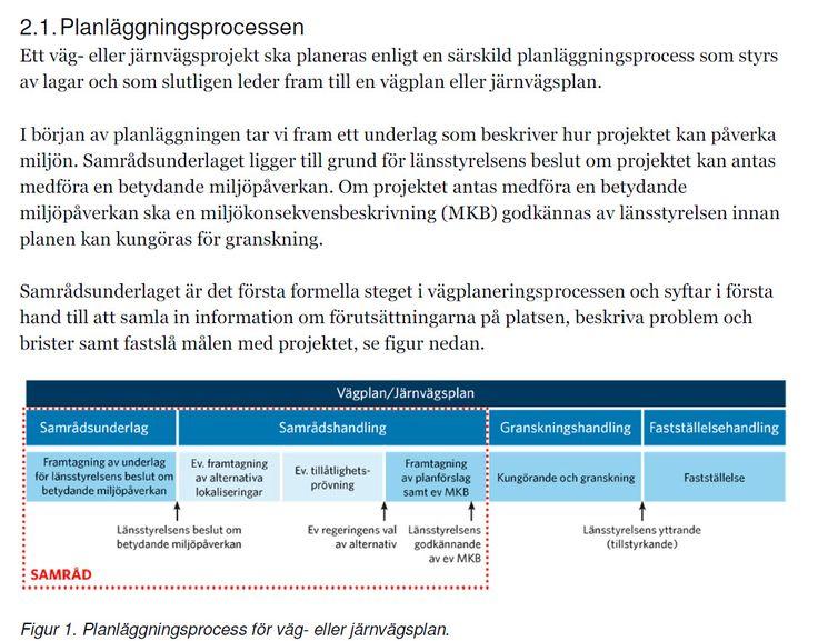 #planläggningsprocess inom #Trafikverket http://www.trafikverket.se/contentassets/bab9a1fc967f47c286d1cfed6e867ff3/samradsunderlag-20160509.pdf #mkbkurs #miljökonsekvensbeskrivning