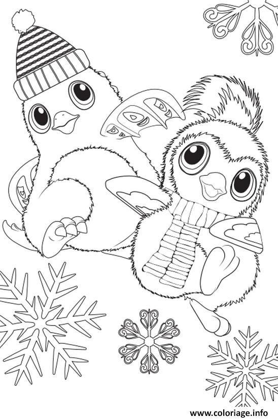 Coloriage Hatchimals Hiver Noel à Imprimer écoles Maternelles