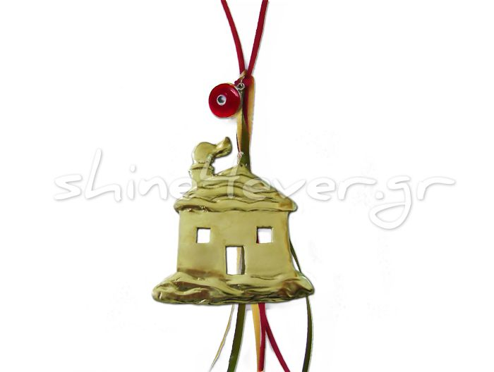 """Little house covered in snow, """"coated"""" in silver!!! A """"shiny"""" ornament for your christmas tree and a sparkling touch for your home!!"""