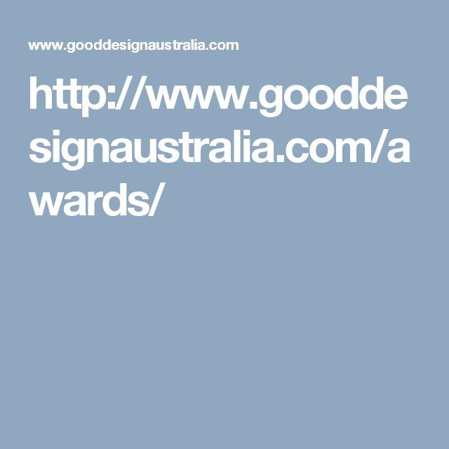 http://www.gooddesignaustralia.com/awards/