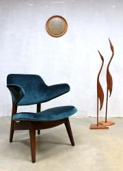 Vintage lounge stoel fauteuil armchair Webe Louis van Teeffelen