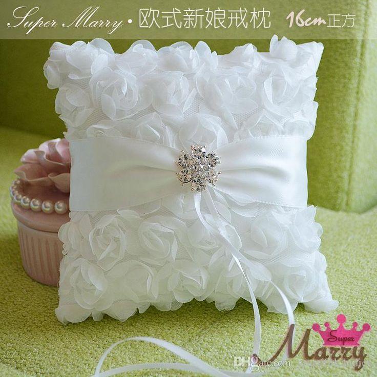 Wholesale Boda Cojines para anillos Rosa Flor de tamaño ...