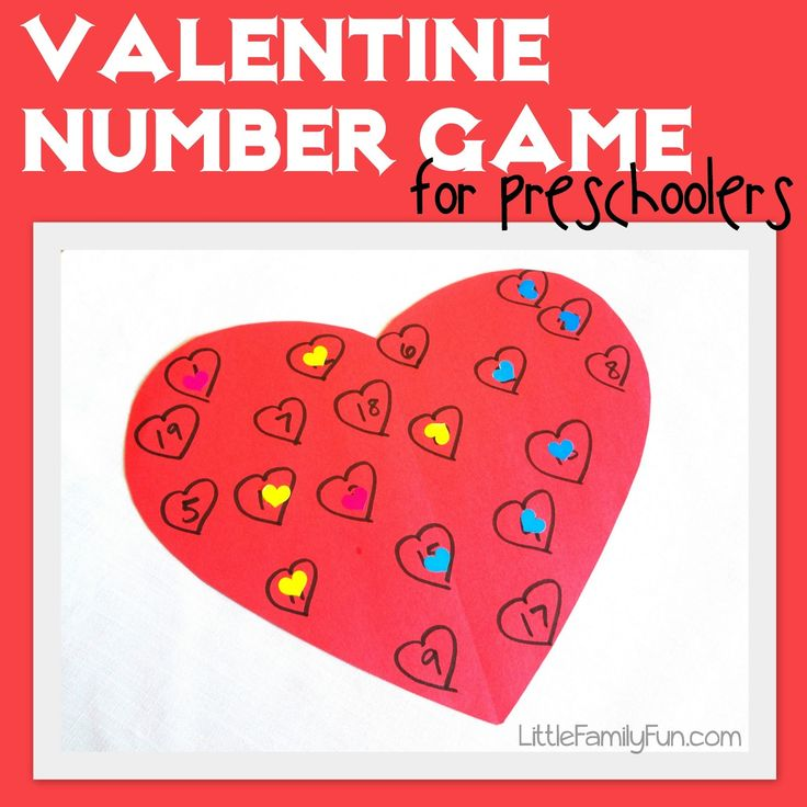 Little Family Fun: Valentine Number Game for Preschoolers